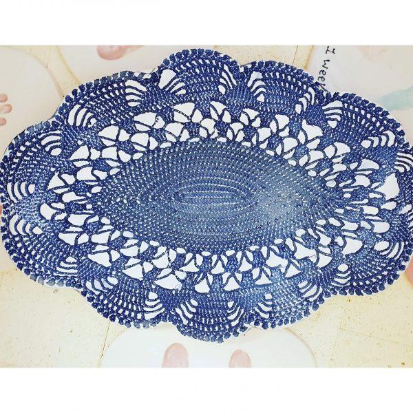 Ceramic Antique Lace Serving platter