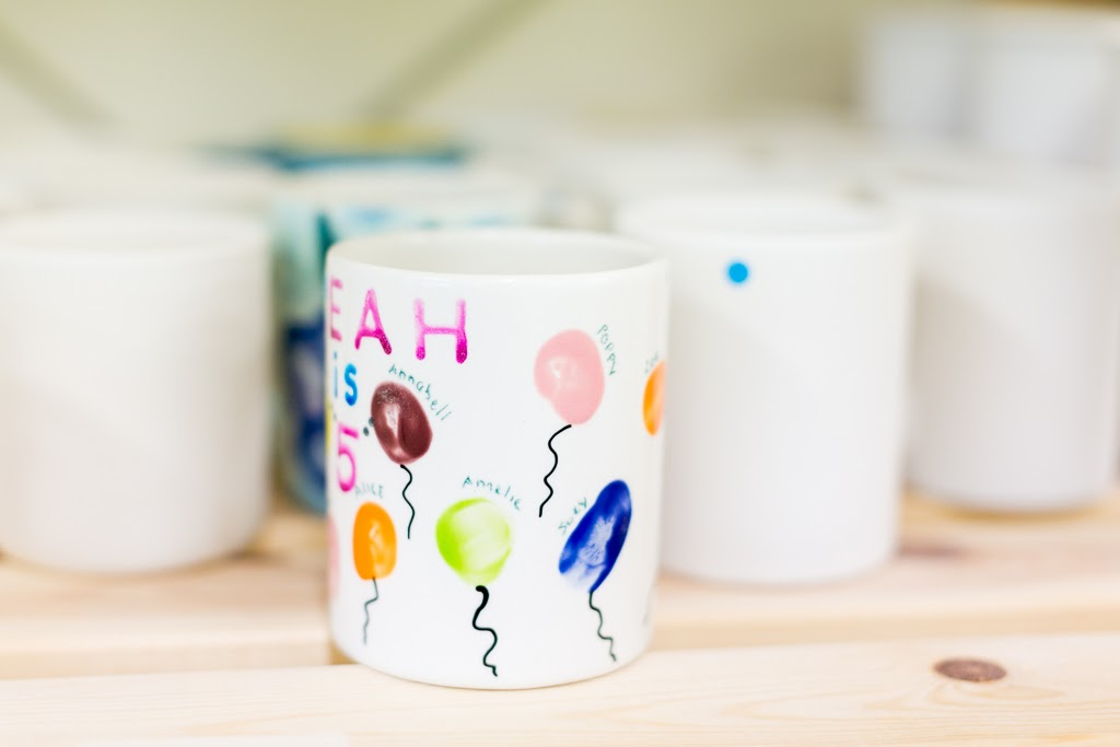 Paint your own pottery mugs